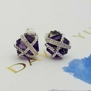 David Yurman Amethyst Wrap Earrings